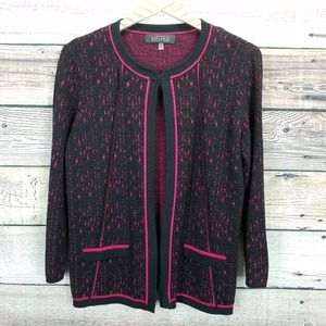 KASPER Medium Cardigan Pink Black 0330